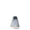 Blauwe leren veterschoenen met print