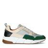 Multicolored leren sneakers met groen detail