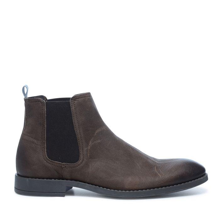 Bruine leren chelsea boots