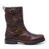 Bruine hoge boots met twee gespen