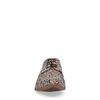 Bruine veterschoenen met print