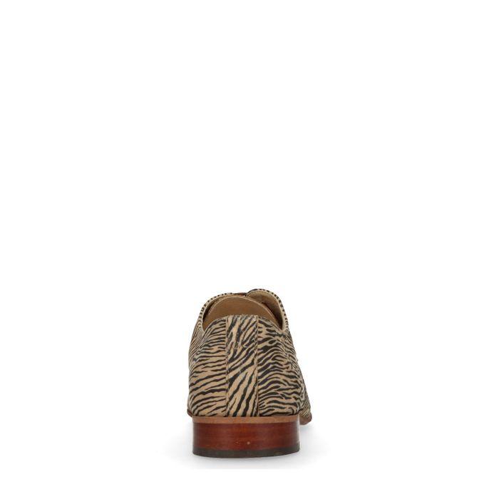 Veterschoenen met zebraprint