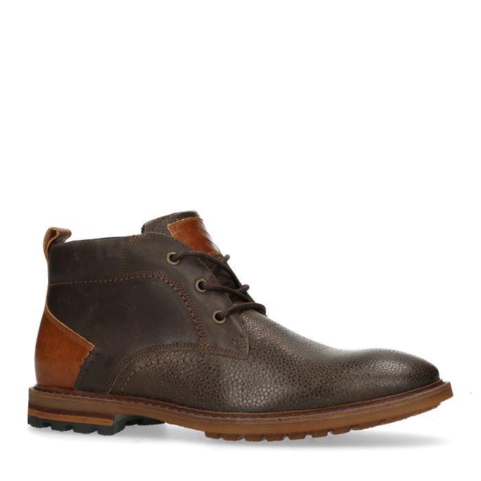 Bruine hoge veterschoenen