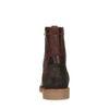 Bruine leren boots met imitatiebont