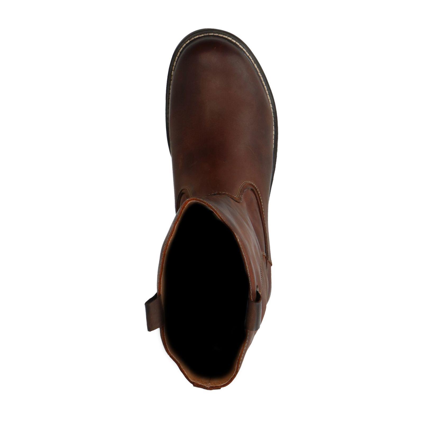Sacha Bruine leren hoge boots met imitatiebont