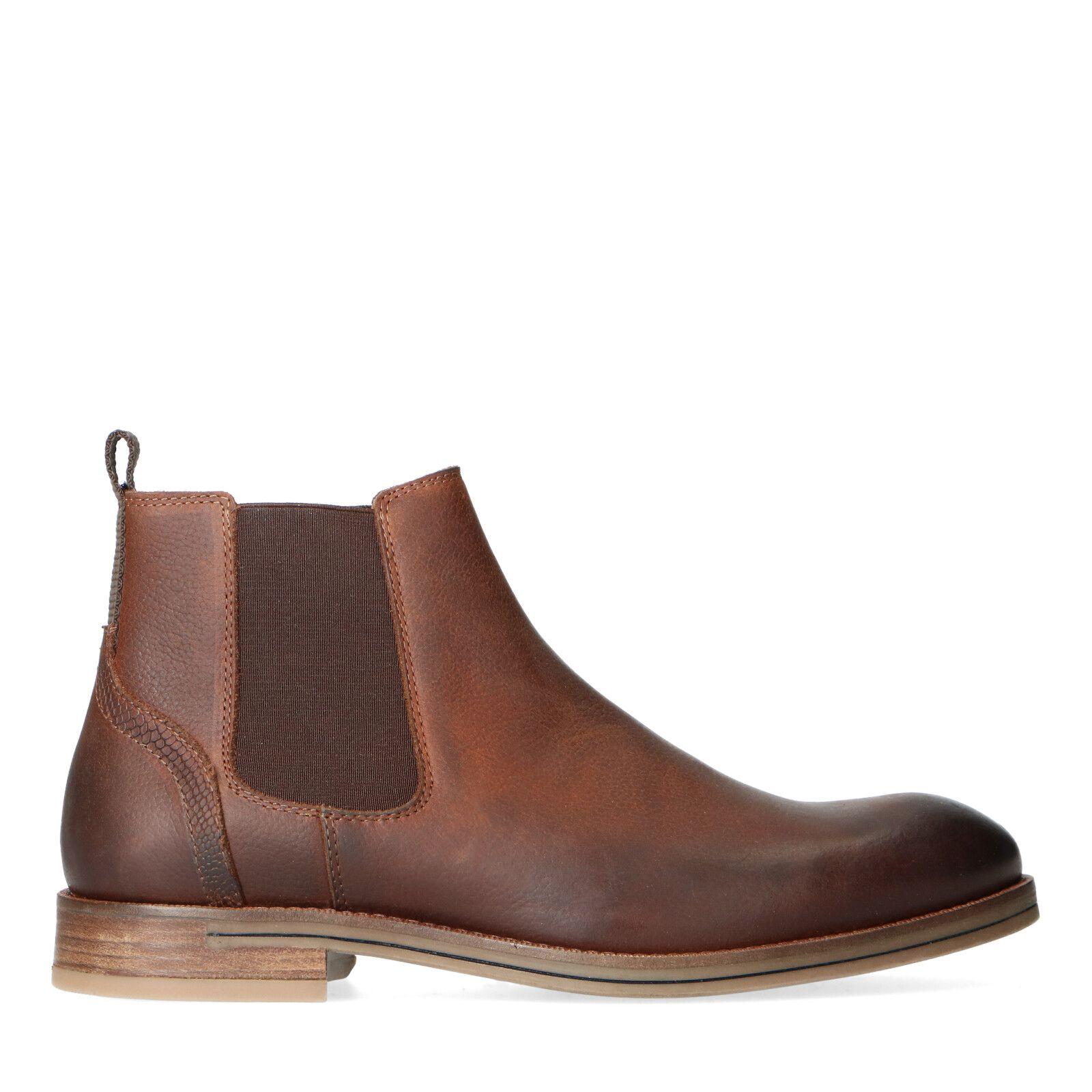 Sacha Bruine leren chelsea boots
