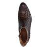 Bruine western boots met snakeskin