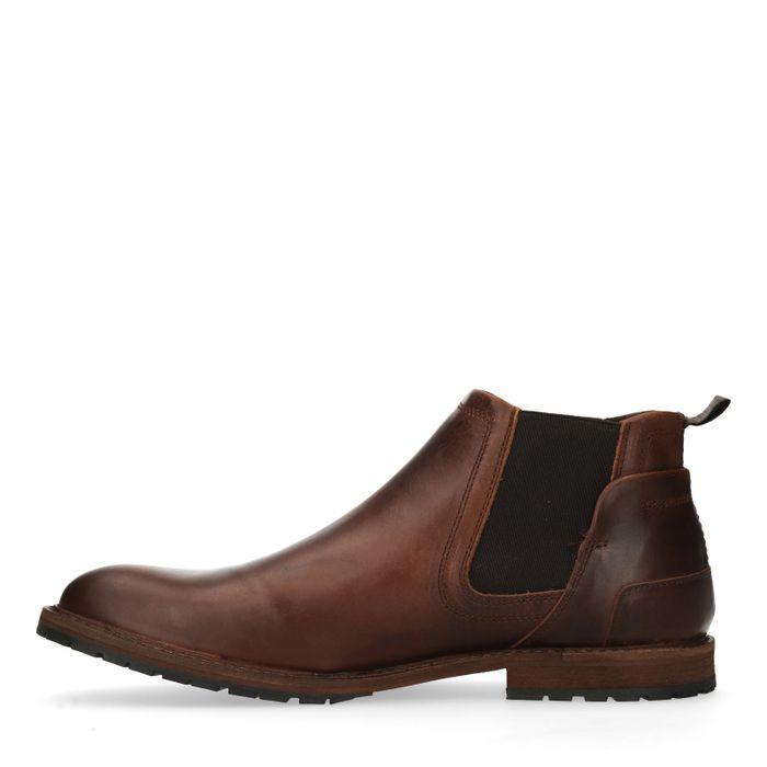 Leren chelsea boots donkerbruin