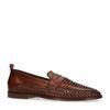 Gevlochten loafers cognac