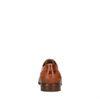 Cognac leren veterschoenen met motiefje