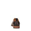 Cognac veterschoenen met donker hielstuk