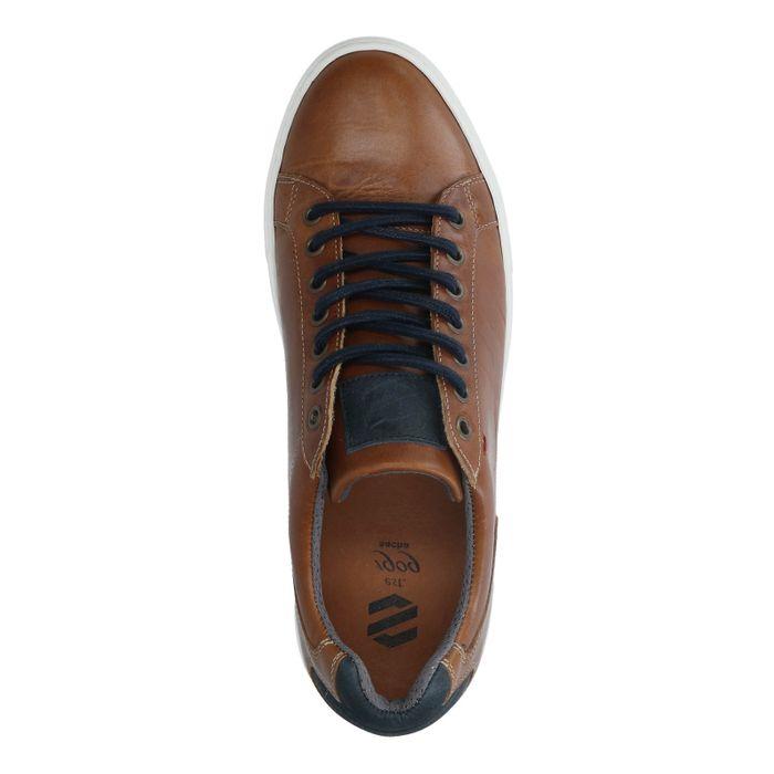 Cognac leren sneakers