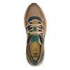 Bruine sneakers met gekleurde details