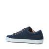 Donkerblauwe lage sneakers met snakeskin