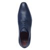Donkerblauwe veterschoenen met motief