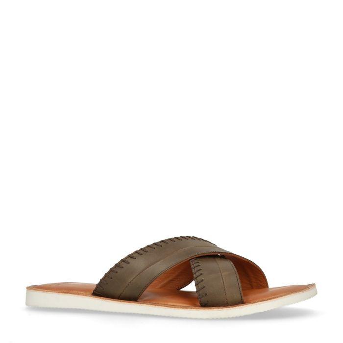 Donkerbruine slippers