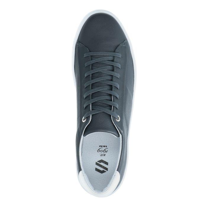 Donkergrijze leren sneakers