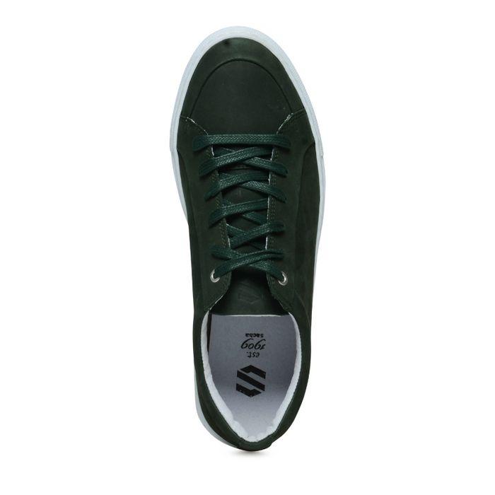 Lage sneakers donkergroen