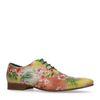 Gele veterschoenen met bloemenprint