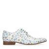 Witte veterschoenen met bloemenprint