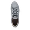 Grijze lage sneakers met snakeskin