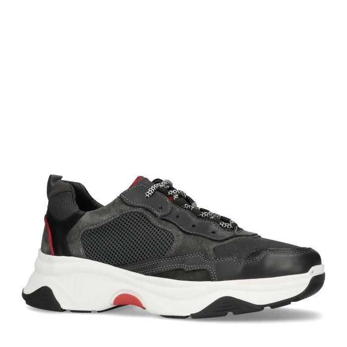 Donkergrijze dad sneakers