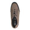 Khaki leren sneakers