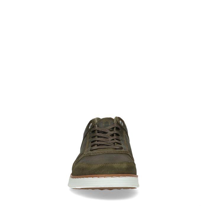 Groene leren sneakers