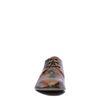 Cognac veterschoenen met bloemenprint
