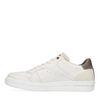 Off white lage sneakers met grijze detail