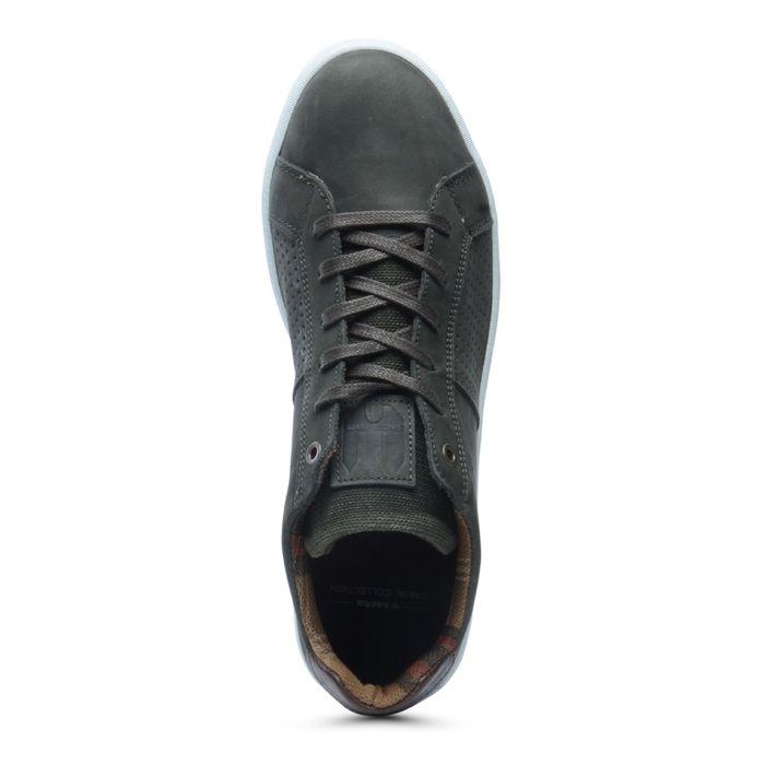 Olijfgroene lage sneakers