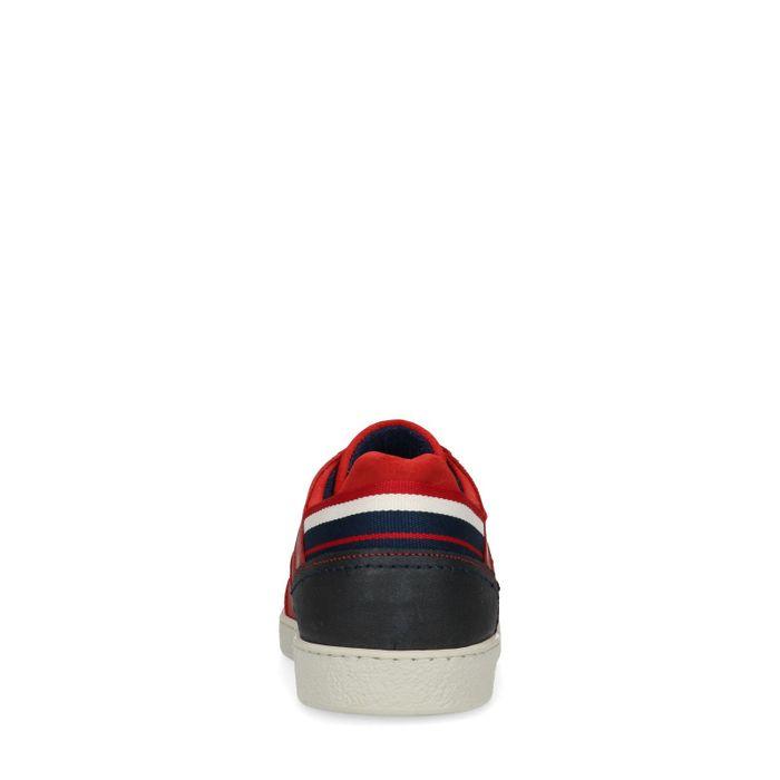 Rode leren sneakers