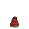Rode veterschoenen met embroidery