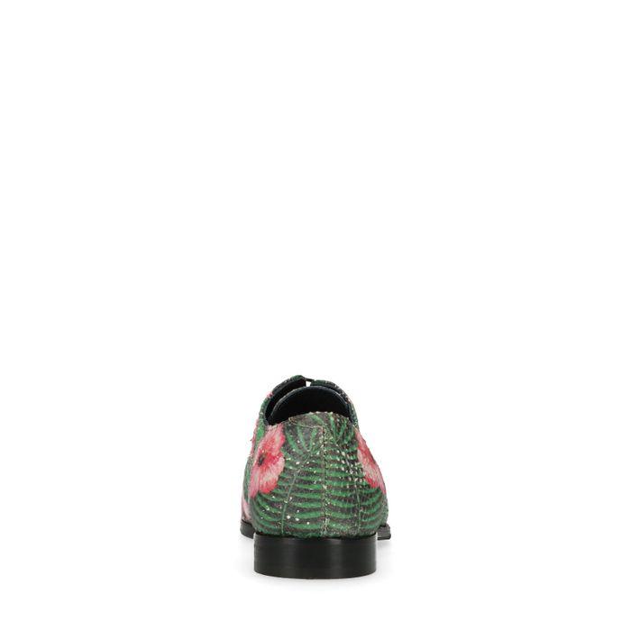 Roze veterschoenen met bloemenprint