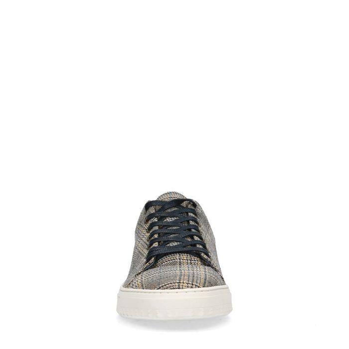 Geruite lage sneakers