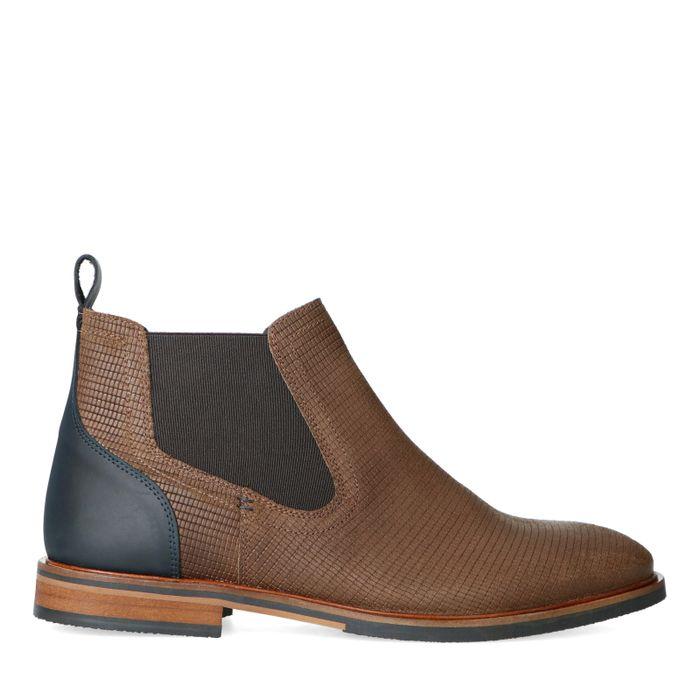 Taupe leren chelsea boots