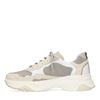 Wit met beige dad sneakers