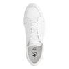 Witte leren lage sneakers