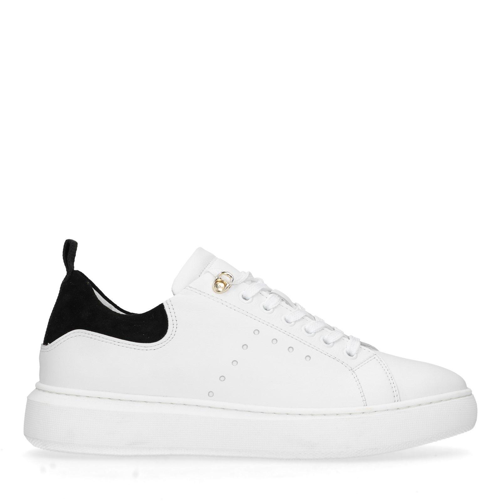 Sacha Witte sneakers met zwart detail