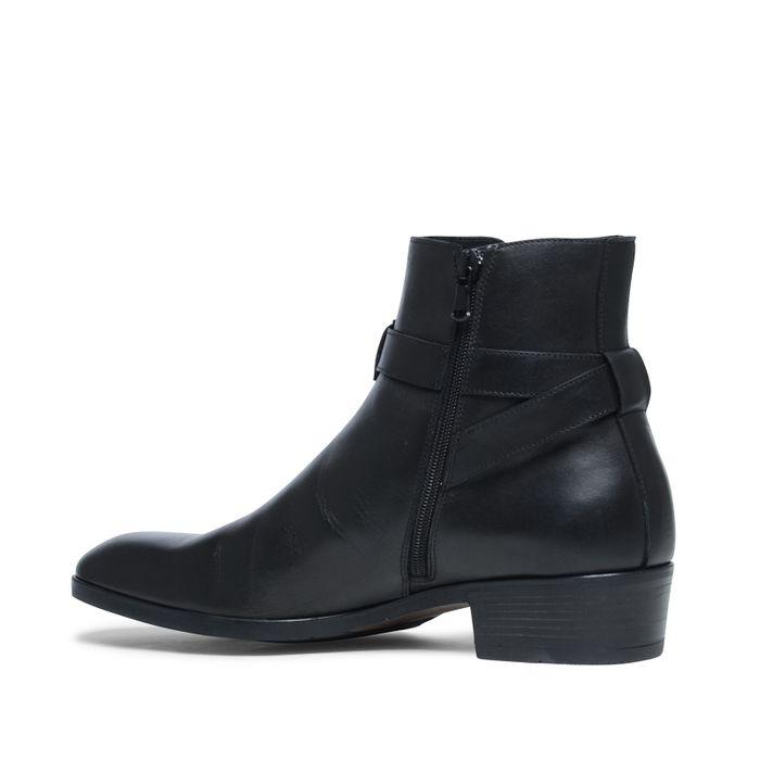 Zwarte lage boots met buckles