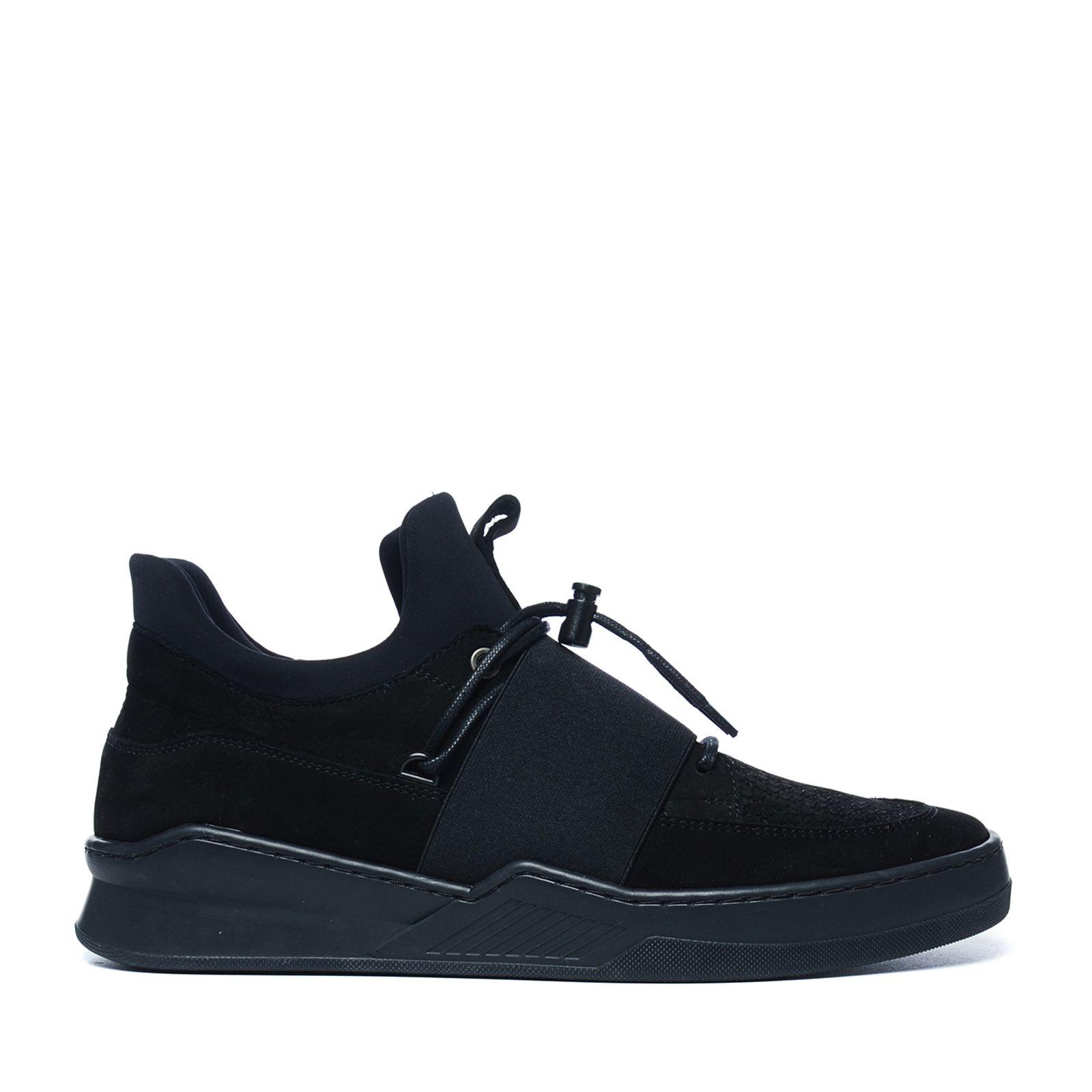 Zwarte sneakers met band