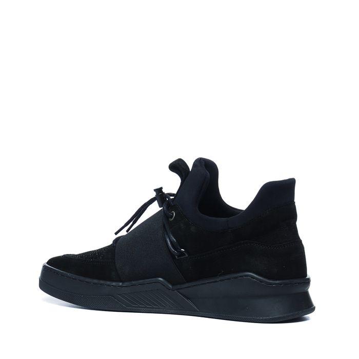 Zwarte hoge sneakers met band
