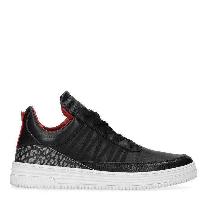 Sacha x Thomas Cox zwarte leren lage sneakers