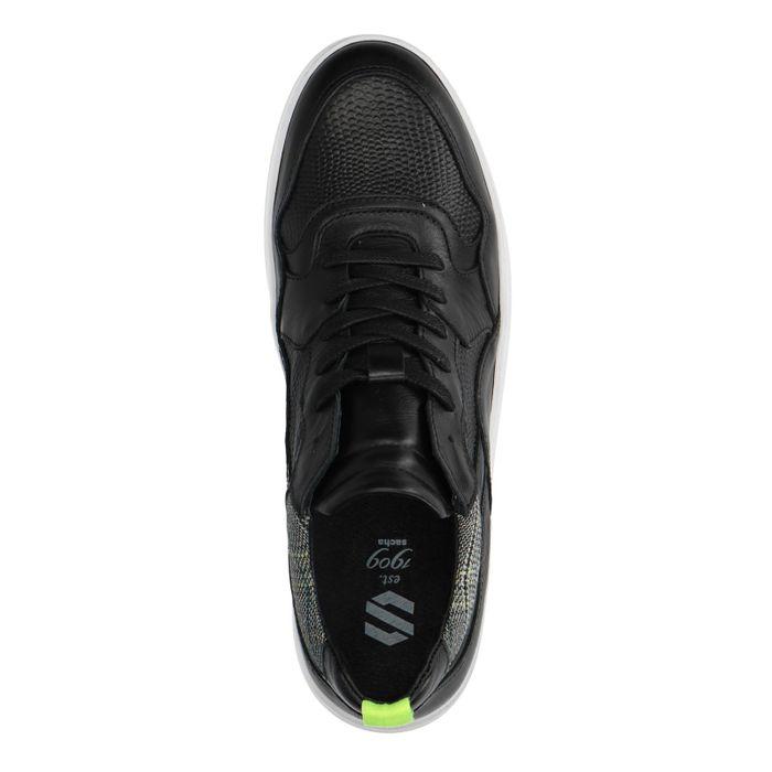 Zwarte lage sneakers van leer
