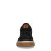 Zwarte leren hoge sneakers
