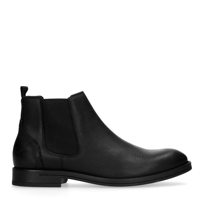 Zwarte leren chelsea boots