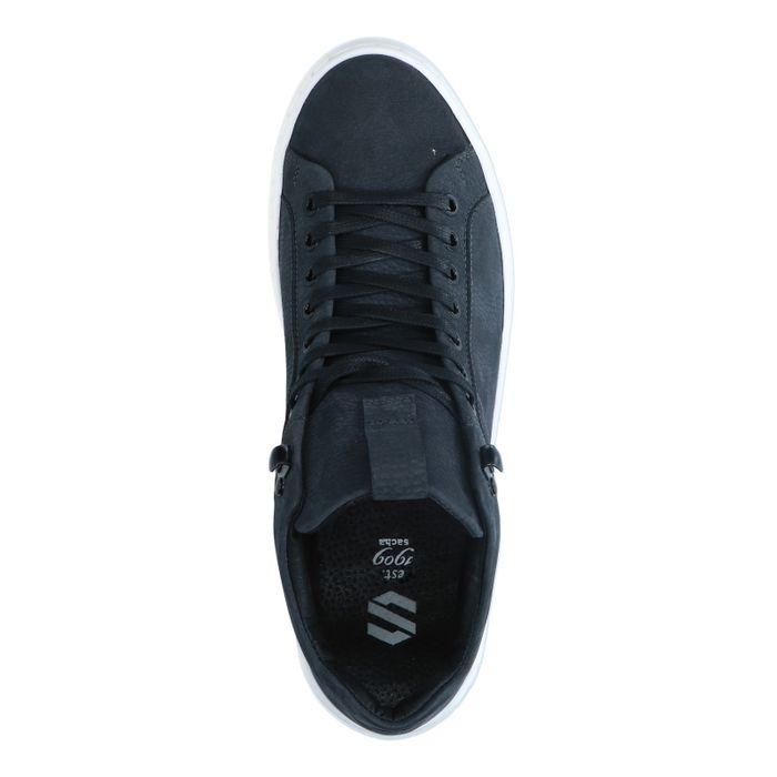 Antraciet hoge nubuck sneakers