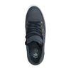 Blauwe lage sneakers met snakeskin