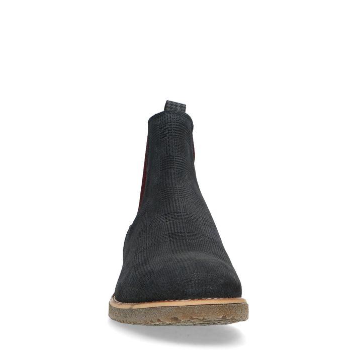 Donkerblauwe nubuck chelsea boots