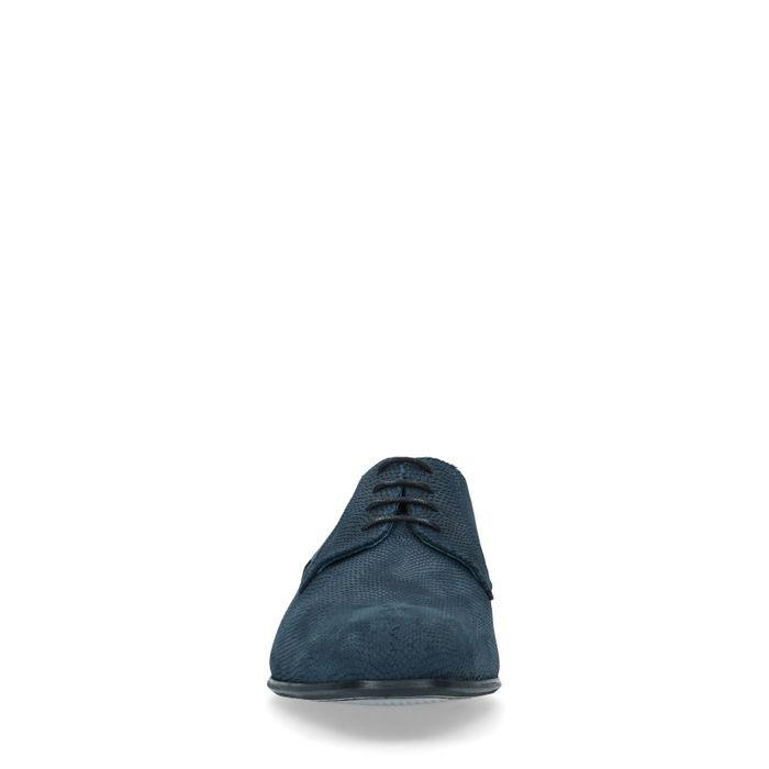 Blauwe nubuck veterschoenen